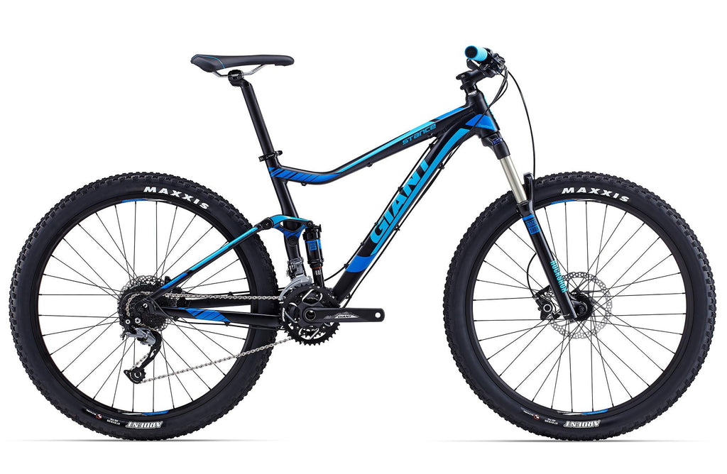 Giant Stance 2, 27.5 - Black/Cyan, Large