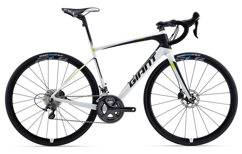 Giant Defy Advanced 2 - White/Black/Green, Large