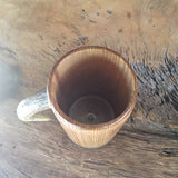 Wooden Tankard, Ash Wood, Elk Antler Handle