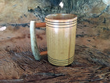 Wooden Tankard, Ash Wood, Deer Antler Handle