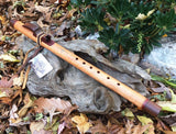 Red Grandis and Walnut Key of F# Native American Style Flute