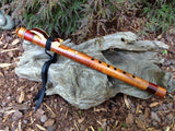 Exotic Curly Koa and Paela Burl Key of A Native American Style Flute