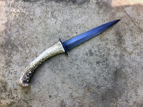 Dagger, Athame with Deer Antler Handle