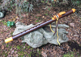 Walnut and Yellow Pine Key of E Native American Style Flute