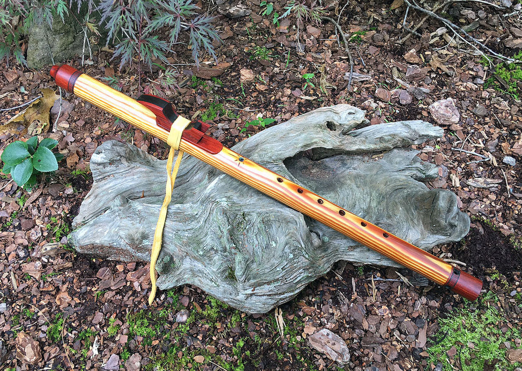 Yellow Pine and Redheart Key of G# Native American Style Flute