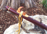 Pommele Bubinga and Red Flame Boxelder Key of G Native American Style Flute