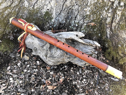 Mesquite and Maple Key of Low C Native American Style Flute