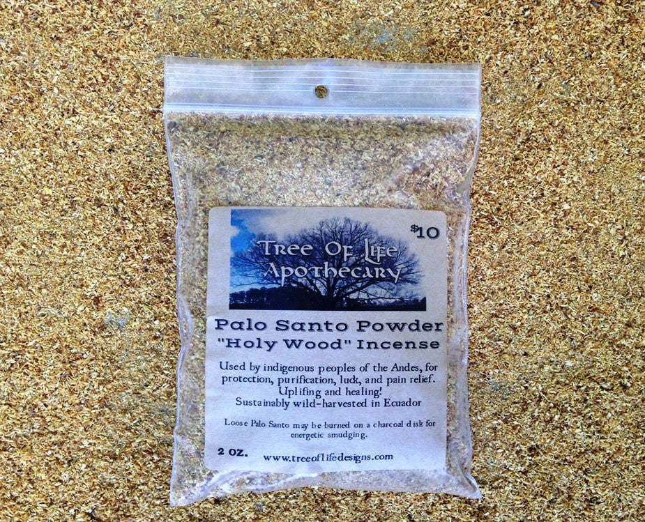 "Palo Santo ""Holy Wood"" Powder Incense 2 oz."