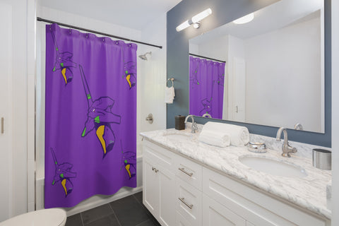 Evangelion Inspired EVA Unit 01 Purple Shower Curtain