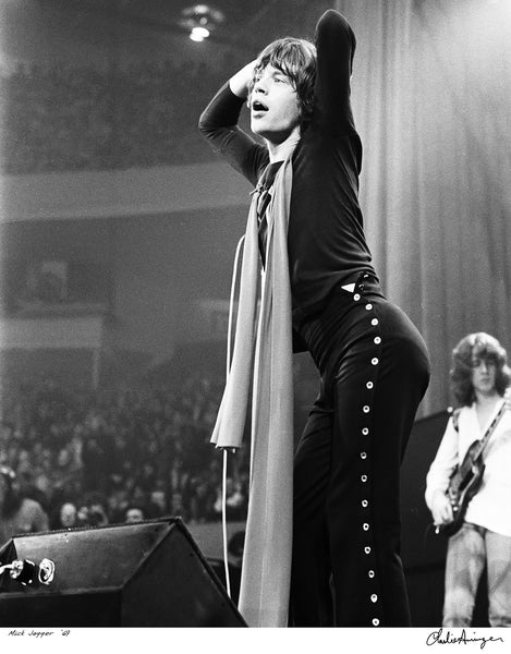 Mick Jagger, The Rolling Stones, Olympia Stadium, Detroit, 1969