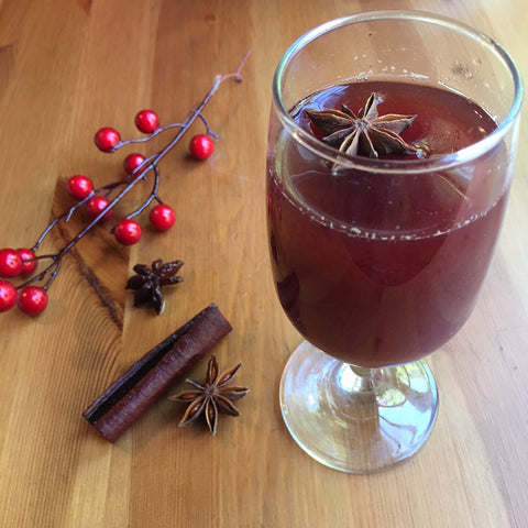 Holiday Spiced Cherry Vanilla Shrub Cocktail