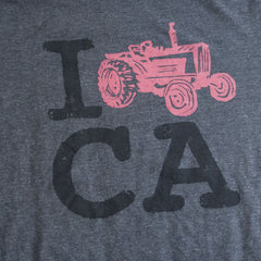 Close-up of I FARM CA T-shirt