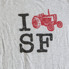 Close-up of I FARM SF T-shirt