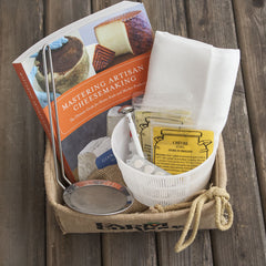 Master Cheesemaking kit in gift basket