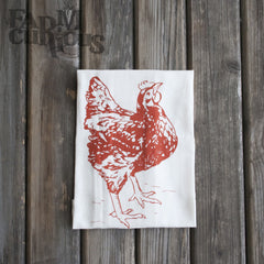 Organic Cotton Chicken Tea Towel