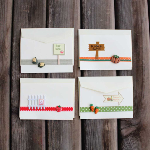Farmers market themed notecards