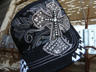 Chevron Cross Cap - Pistol Annie's Boutique