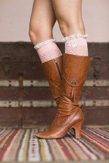 Lace Trim Boot Cuffs - Pistol Annie's Boutique
