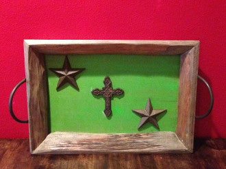 Lime Stars & Cross Wall Decor - Pistol Annie's Boutique