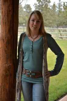 Turquoise Leather Concho Belt - Pistol Annie's Boutique
