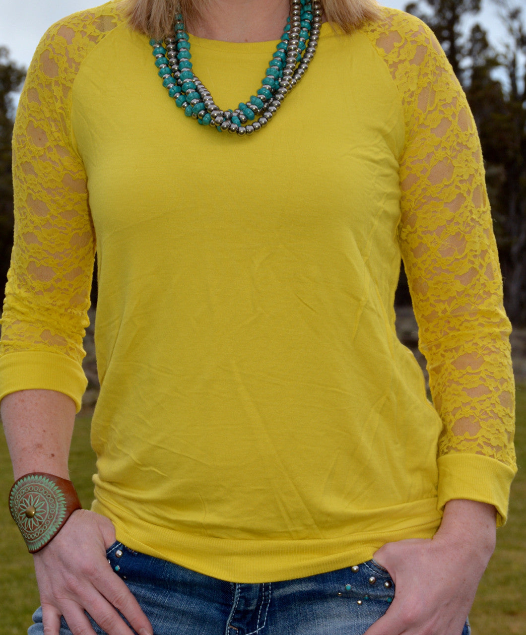 Sunny Days Lace Top - Pistol Annie's Boutique