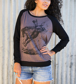 Bareback Rider Long Sleeve Tee - Pistol Annie's Boutique