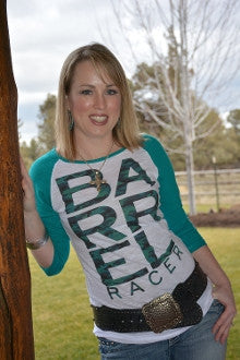 Barrel Racer Burnout Baseball Tee - Pistol Annie's Boutique