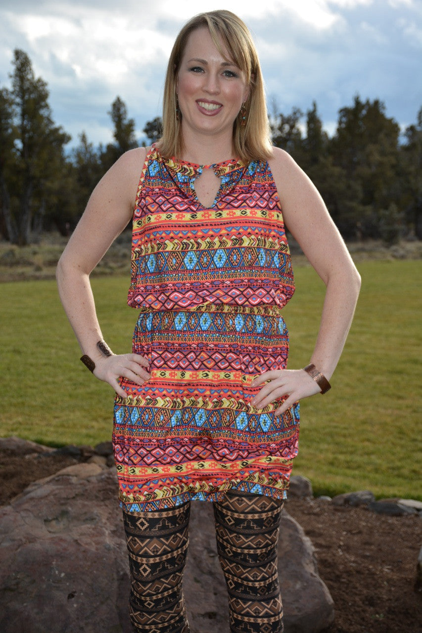 Maya Tribal Knit Dress - Pistol Annie's Boutique