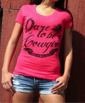 Dare to be Cowgirl Burnout Tee - Pistol Annie's Boutique