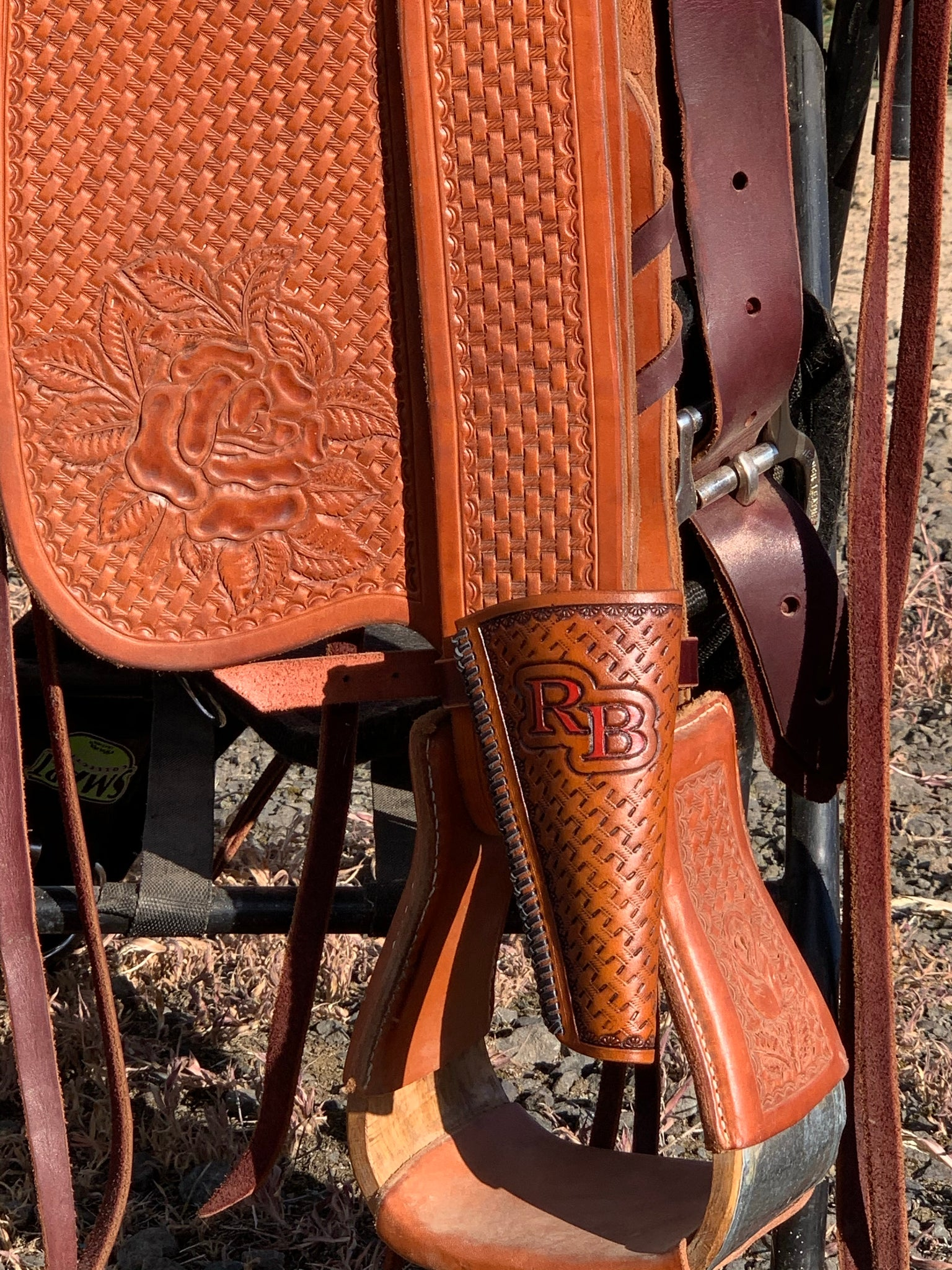 Custom Leather Flag Boot - Pistol Annie's Boutique