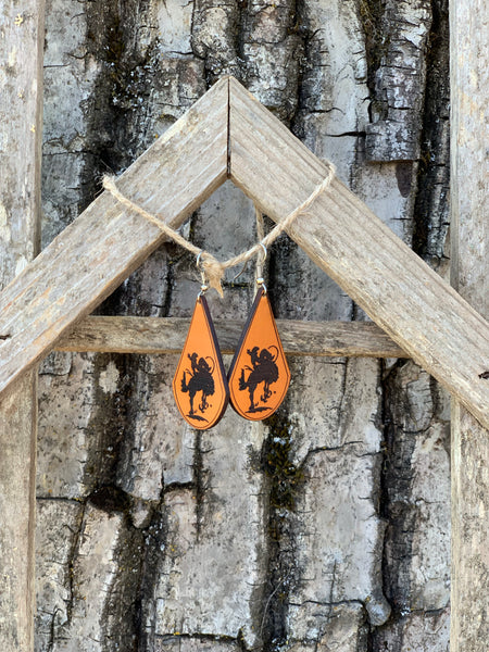 St Paul Rodeo Logo Earrings still available for purchase @ www.stpaulrodeo.com - Pistol Annie's Boutique