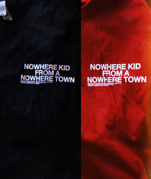 Nowhere Kid Shirt | Cardinal Red & Black