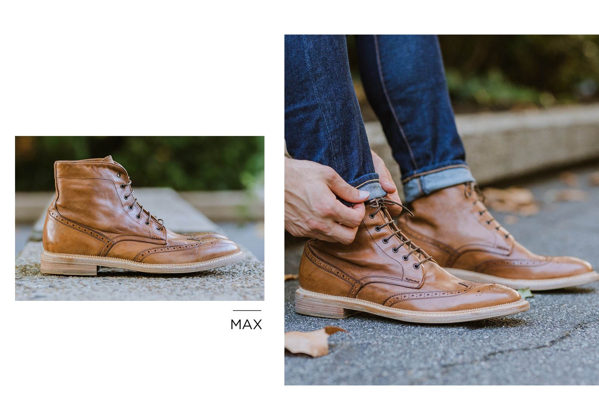 Max Wingtip Boot in Walnut by Gordon Rush