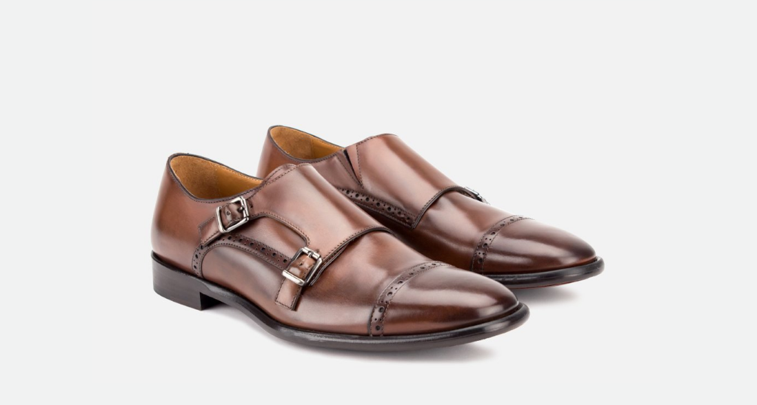 Corbett | Men Brown Leather Double Monkstrap | Business Shoe 2018