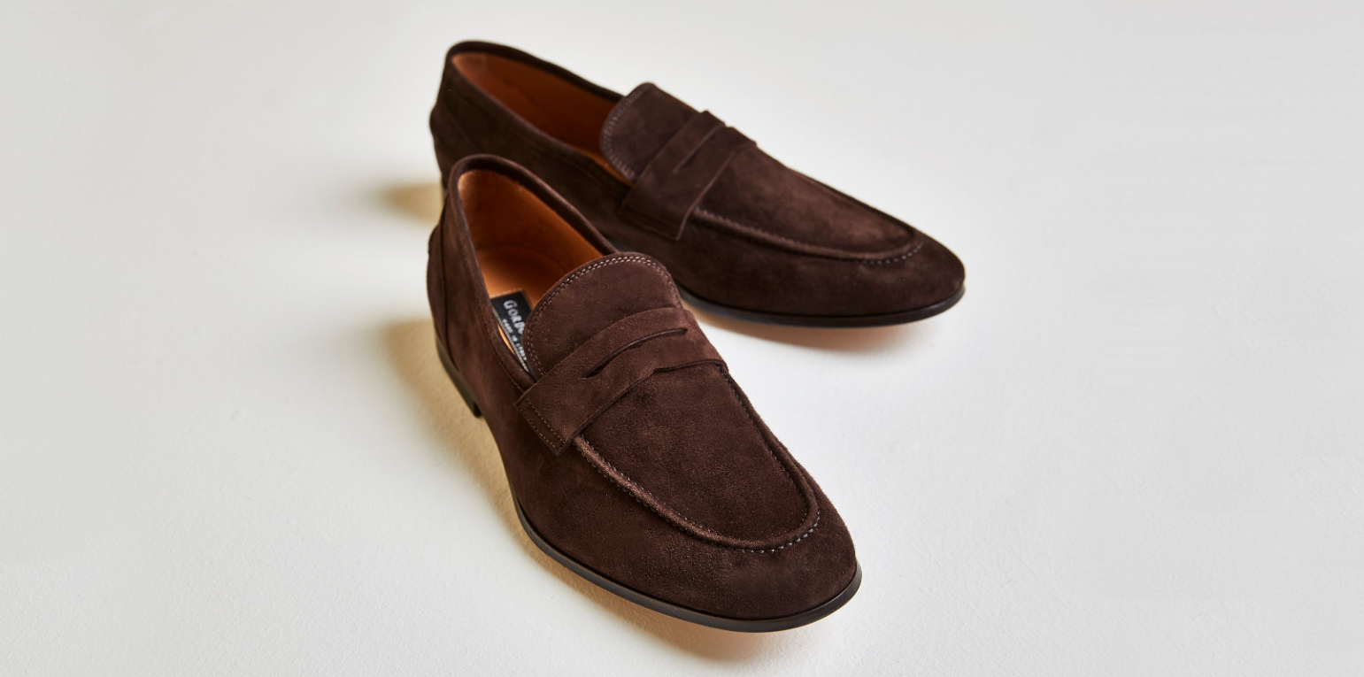 Otis | Mens Brown Suede Loafer | Business Shoe 2018