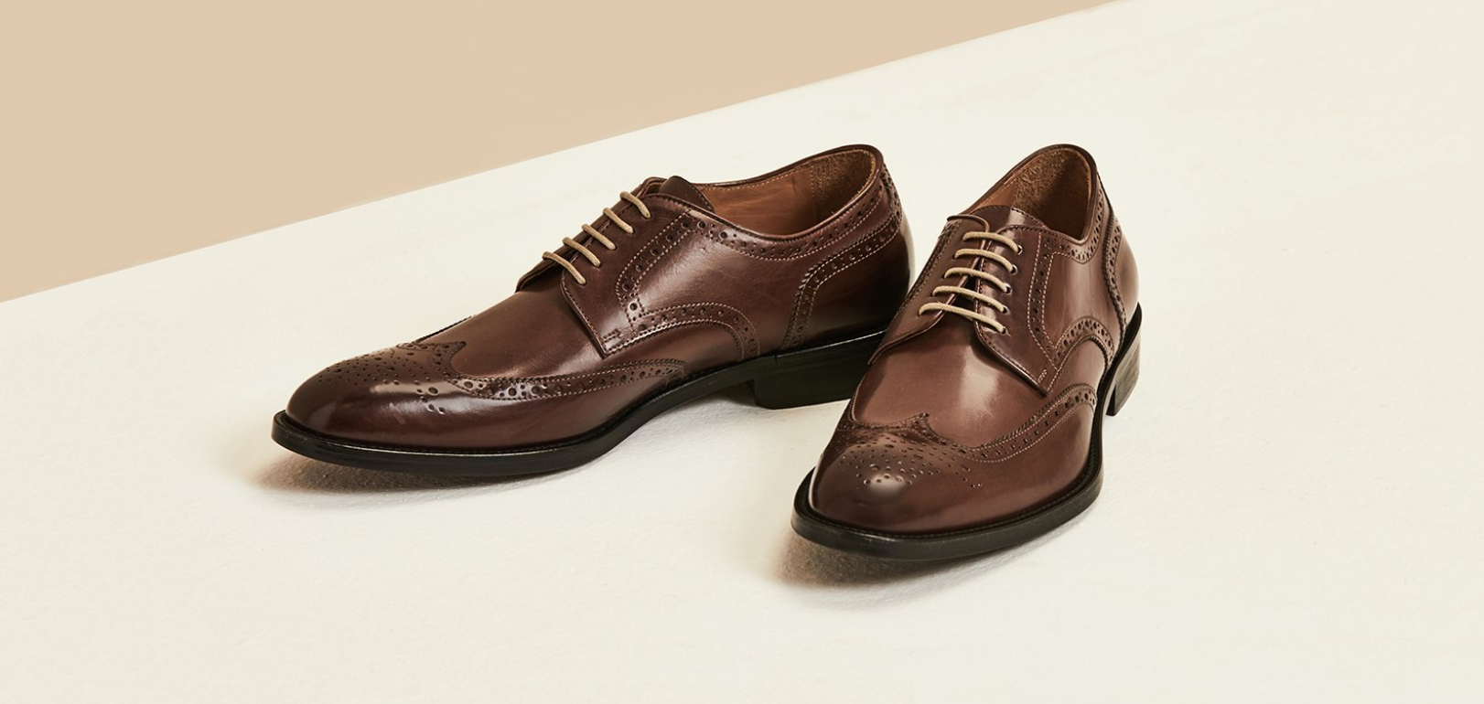 Keegan | Dark Brown Leather Wingtip | Business Shoe 2018