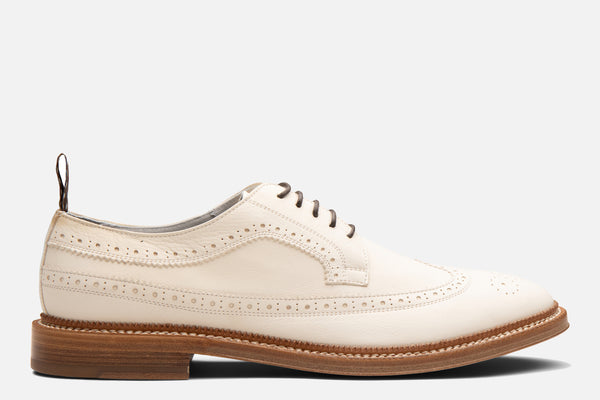 Gordon Rush Bryce Wingtip Shoe in White Side View