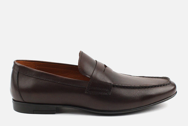 Gordon Rush Connery Penny Loafer Shoe Espresso Side View
