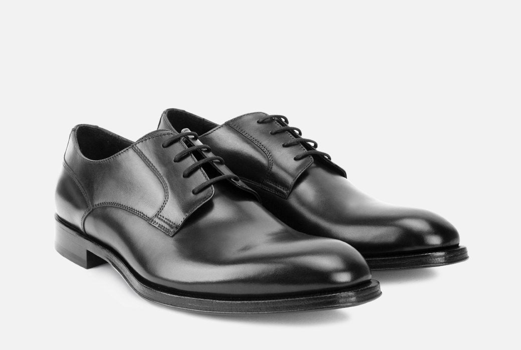 Gordon Rush Devin Derby Shoe Black Side View Pair