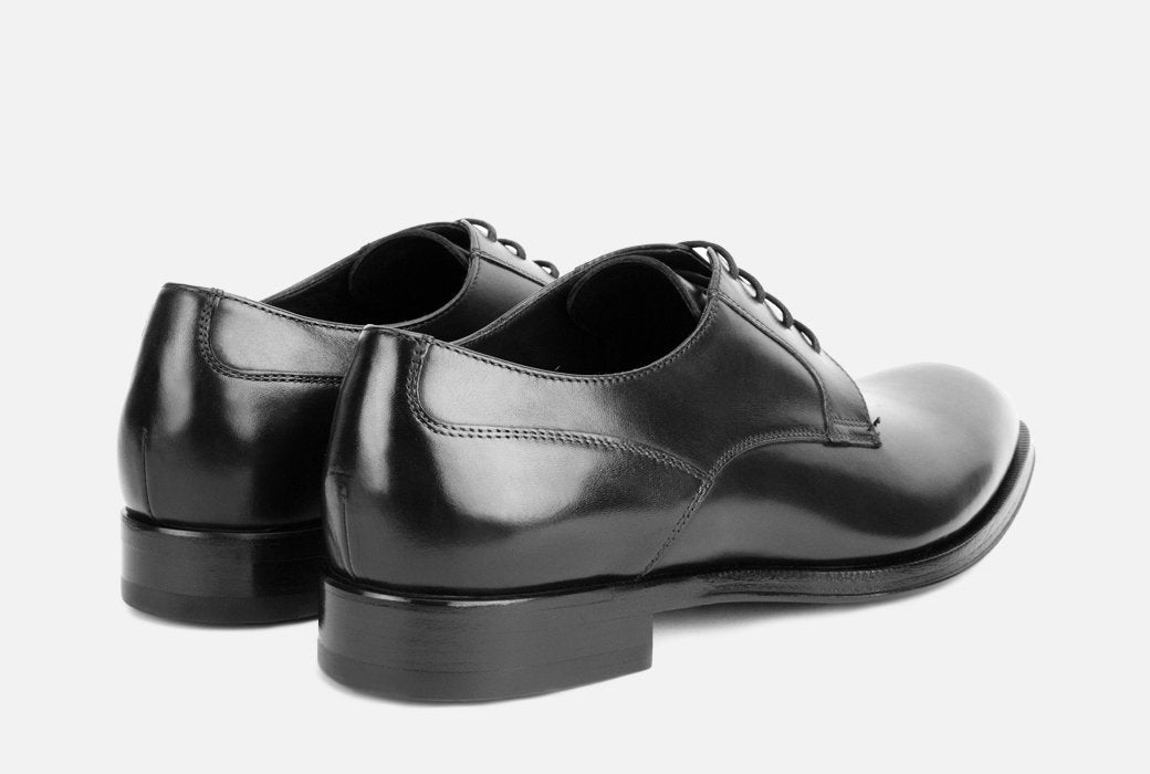 Gordon Rush Devin Derby Shoe Black Rear View Pair