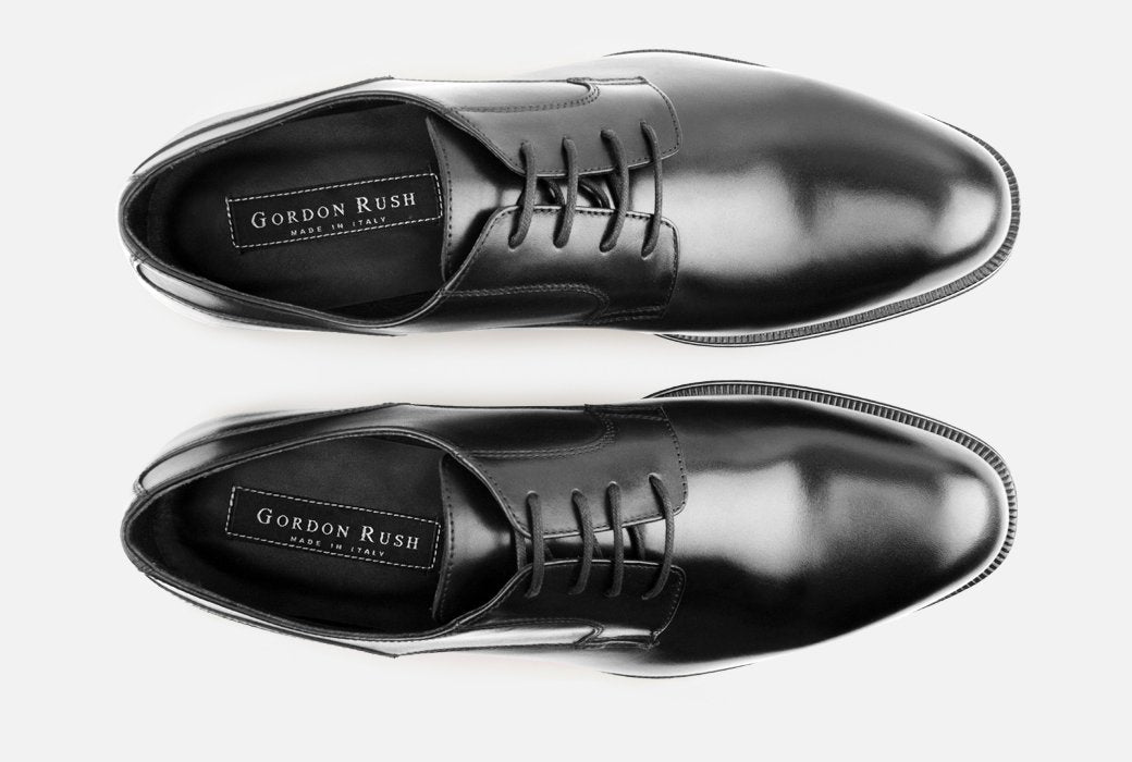 Gordon Rush Devin Derby Shoe Black Top View
