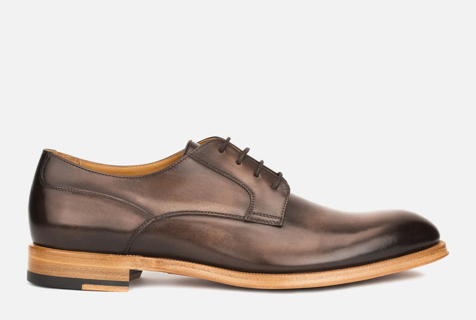 Devin Dark Brown Leather Derby