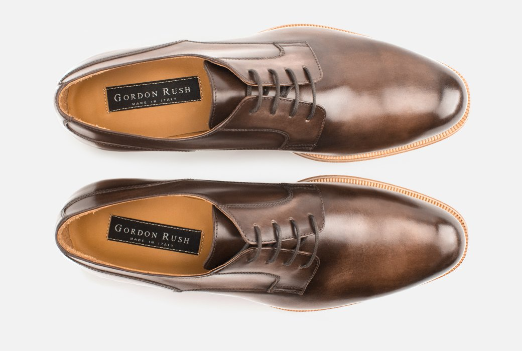 Gordon Rush Devin Derby Shoe Dark Brown Top View