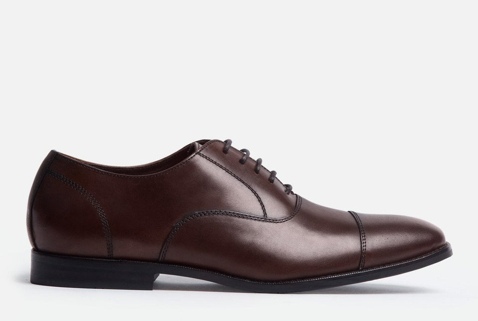 Dillon Chestnut Leather Cap-toe Oxford