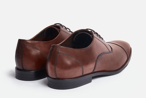 Dillon/Gordon Rush/Mens brown leather oxford shoe