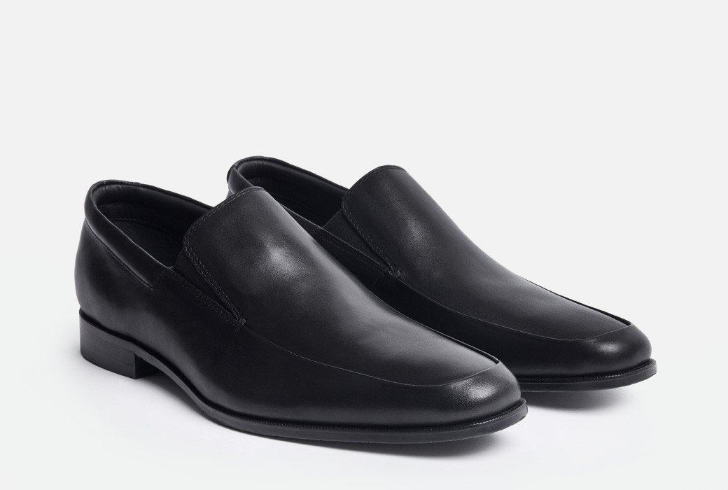 Gordon Rush Elliot Loafer Shoe Black Side View Pair