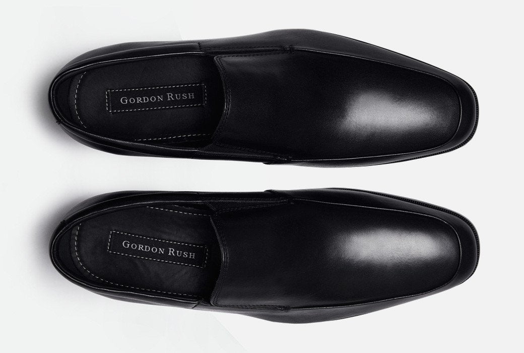 Gordon Rush Elliot Loafer Shoe Black Top View