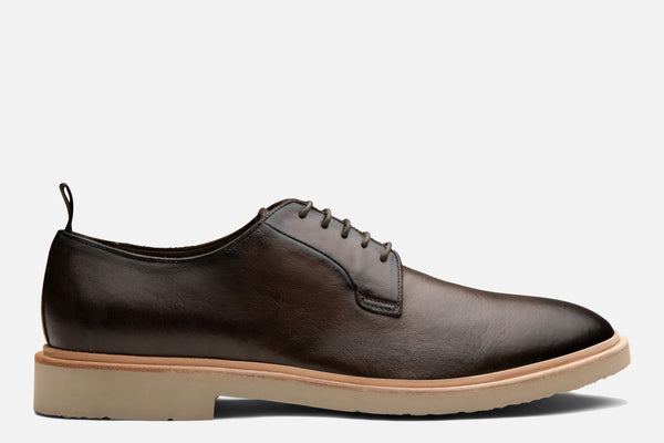 Gordon Rush Fletcher Derby Shoe in Chocolate Side View