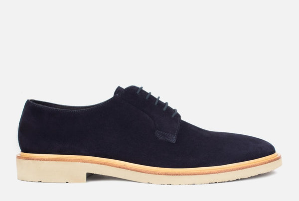 Gordon Rush Fletcher Derby Shoe Navy Suede Side View