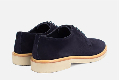 Navy Derby Shoes - Gordon Rush